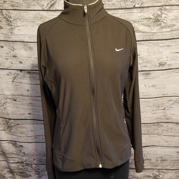 Nike Jackets & Blazers - NIKE ZIPPERED TRACK JACKET/ARMY GREEN